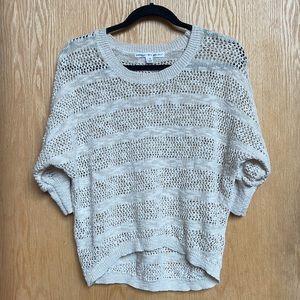 Neutral Cream Beige Knit Cropped Sweater